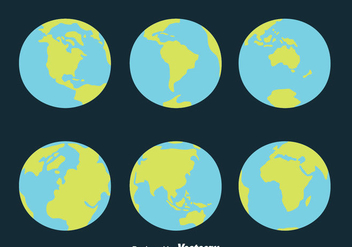 Globe Earth Vectors - Free vector #426609
