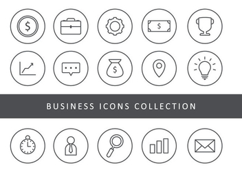 Business Thin Line Icons - Free vector #426689