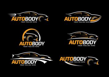 Auto Body Logo Template Free Vector - Free vector #426719