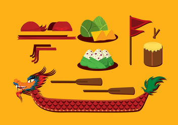 Dragon Boat Festival Item Free Vector - Free vector #426809