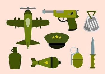 Flat World War Vectors - Free vector #426919