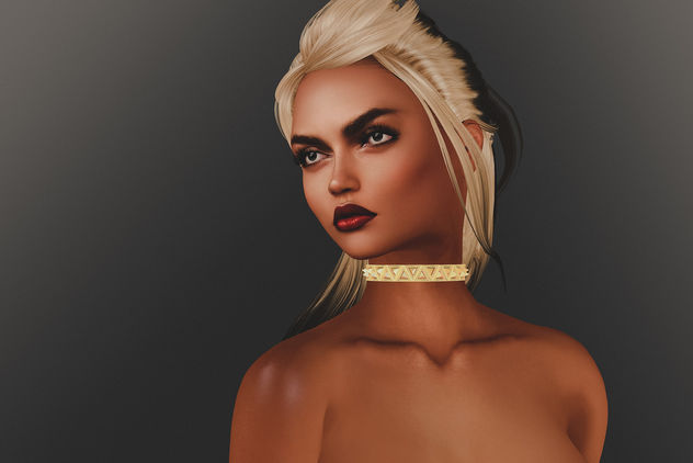 Hairstyle Elia by Iconic @ Tres Chic & Tria Chocker by Modish @ Tres Chic - Free image #426989