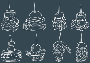 Free Canapes Icons Vector - Kostenloses vector #427079