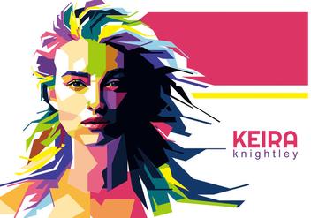 Keira Knightley Vector WPAP - Free vector #427239