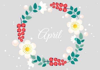 Free Flower Wreath Vector Typography - Free vector #427389