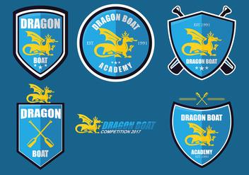 Dragon Boat Academy Logo Set Vector - Kostenloses vector #427469