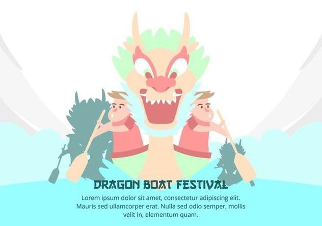 Dragon Boat Festival Background - Free vector #427509