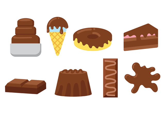 Chocolate Food Icon Vector - Free vector #427649