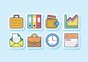 Business Icon Set - vector #427699 gratis
