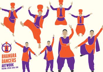 Punjabi Dancers Figures - vector gratuit #427729