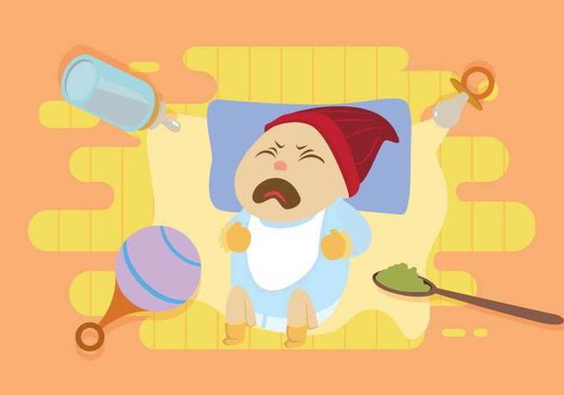 Free Crying Baby With Blue Shirt Illustration - vector #427739 gratis