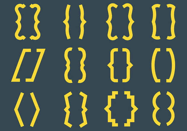 Free Bracket Icons Vector - Free vector #427749