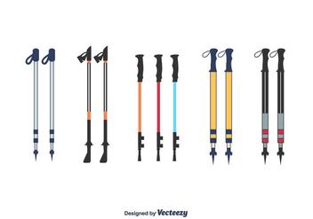 Nordic Walking Poles Vector - Free vector #427759