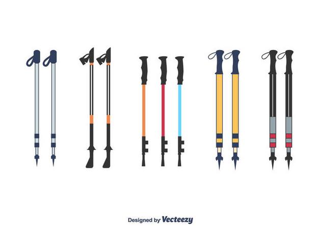 Nordic Walking Poles Vector - vector gratuit #427759