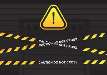 Danger Tape Over Door Vector - Free vector #427969