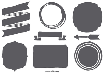 Hand Drawn Shapes Collection - Free vector #428169