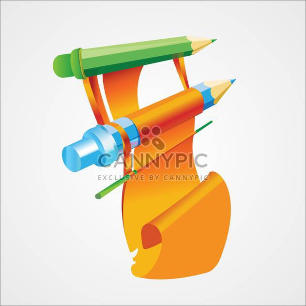 Vector illustration of wooden colorful pencils - vector gratuit #125779