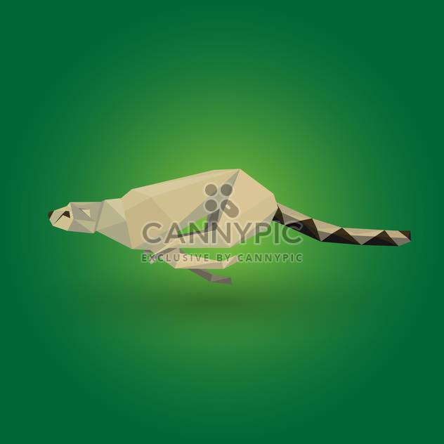 Vector illustration of origami wild cheetah on green background - Free vector #125799