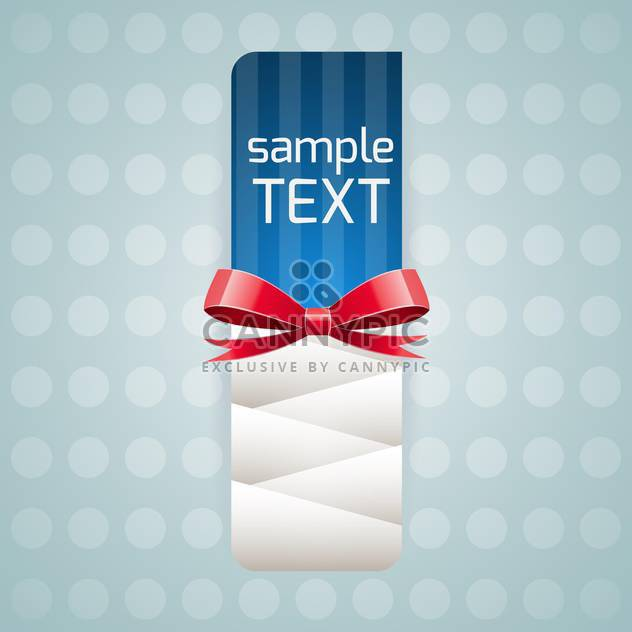 vector illustration of banner with red bow and text place - Free vector #126039