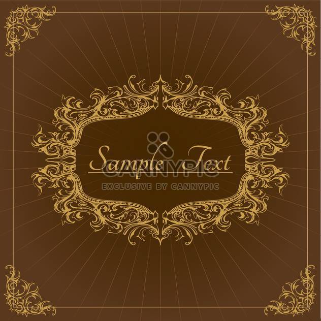 Vector vintage floral background with text place - Free vector #126049