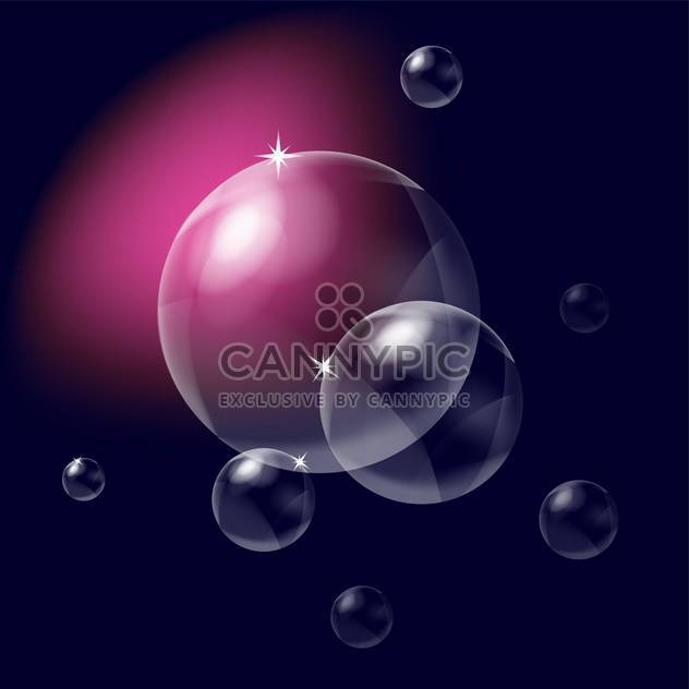 Vector illustration of dark background with bubbles and light effects - Free vector #126139