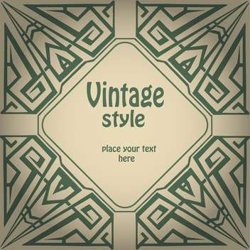 Vector vintage green grunge background with text place - vector #126279 gratis