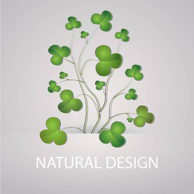 Vector illustration of grey background with green clovers - vector #126309 gratis