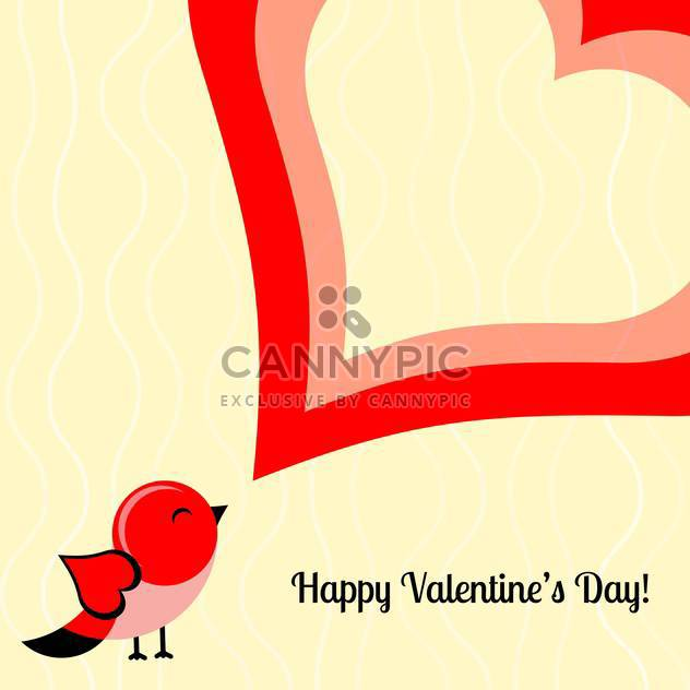 Vector holiday background of bird with heart and text place - Free vector #126329