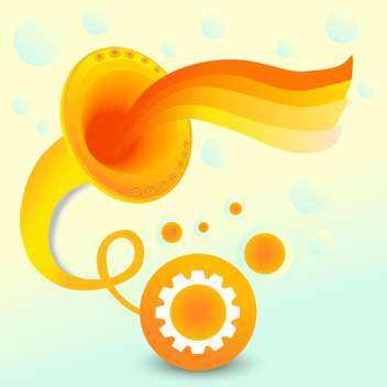 Vector abstract background with orange gramophone on colorful background - vector #126349 gratis