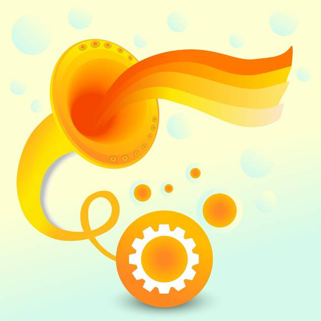 Vector abstract background with orange gramophone on colorful background - бесплатный vector #126349