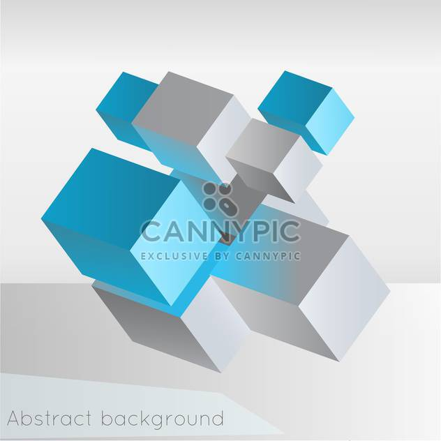 Vector illustration of abstract geometric background from cubes on white background - Free vector #126419
