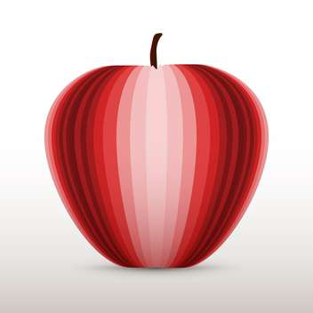 Vector illustration of red apple on white background - Free vector #126489