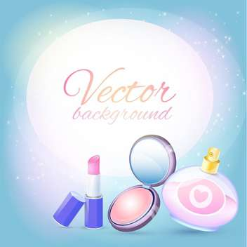 Vector illustration of female cosmetics on magic background - Free vector #126519