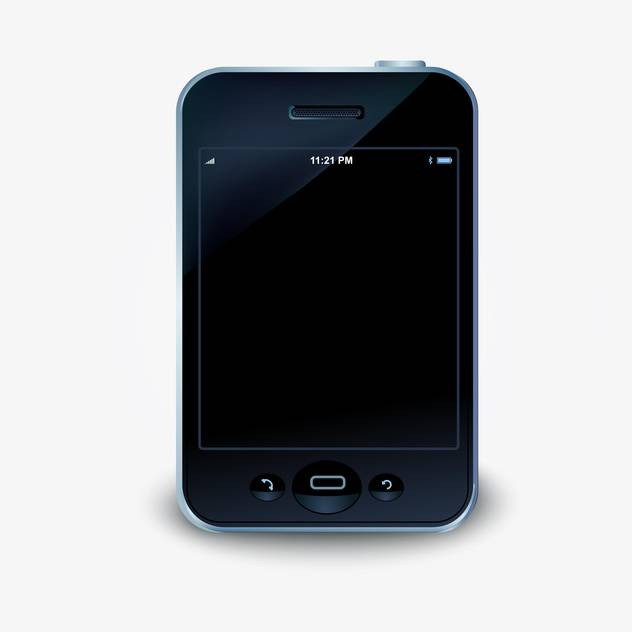 Vector illustration of touch screen smartphone on white background - vector gratuit #126539