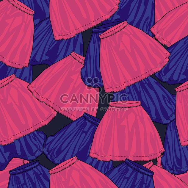 Vector colorful background with fashion female skirts - vector #126669 gratis