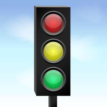 Vector colorful illustration of traffic lights - vector gratuit #126689