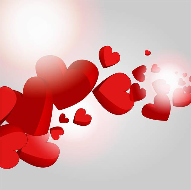 Vector holiday background with hearts for valentine card - vector gratuit #126719