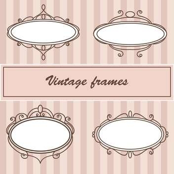 Vector set of vintage frames with text place - Kostenloses vector #126779