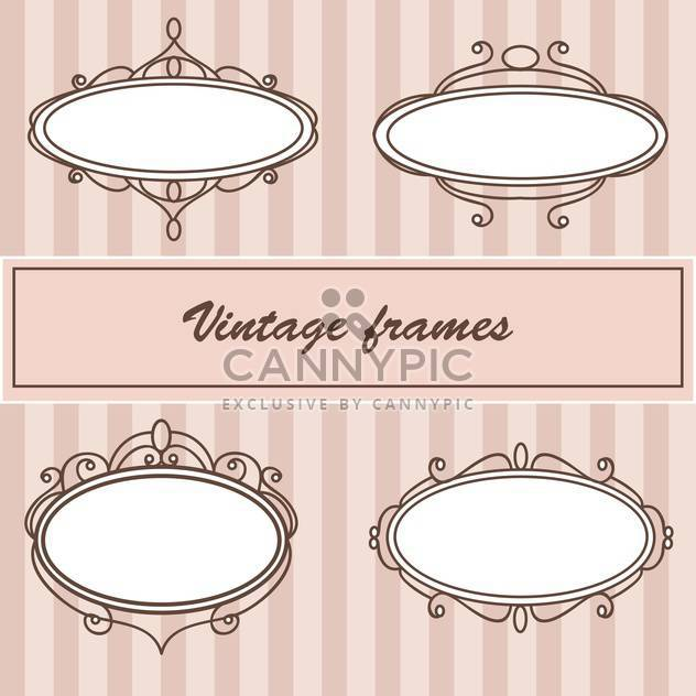 Vector set of vintage frames with text place - Free vector #126779