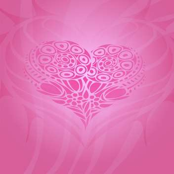 Vector background with abstract heart for valentine card - Free vector #126859