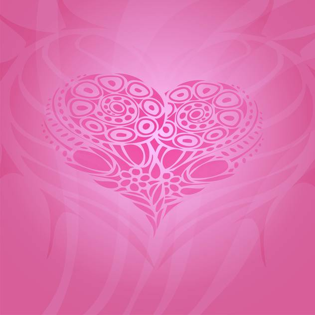 Vector background with abstract heart for valentine card - vector #126859 gratis