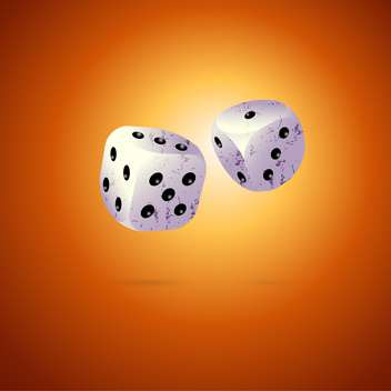 Vector illustration of two dices on brown background - Free vector #126879