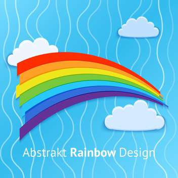 Vector background with colorful rainbow on blue sky background - vector gratuit #126909