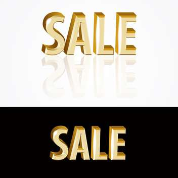 Vector gold sale signs on black and white background - vector gratuit #126919
