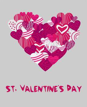 Vector background with hearts for Valentine's day - vector gratuit #126989