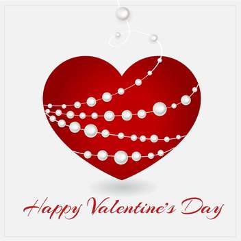 Vector greeting card with heart for Valentine's day - vector gratuit #127079