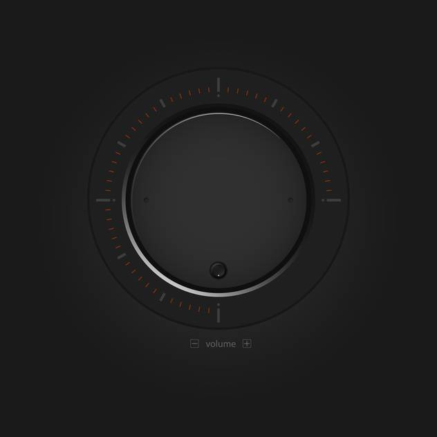 Vector black volume button - бесплатный vector #127159