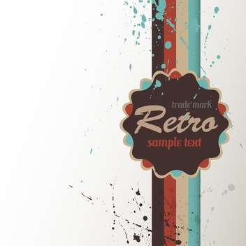 Vintage art background with label for text place - vector #127169 gratis