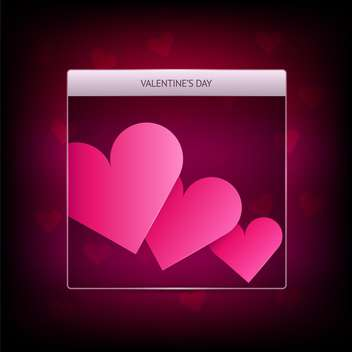 Vector banner for Valentine's day with pink hearts - vector gratuit #127199