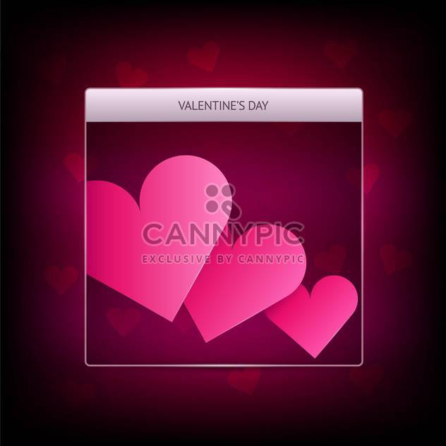 Vector banner for Valentine's day with pink hearts - Free vector #127199